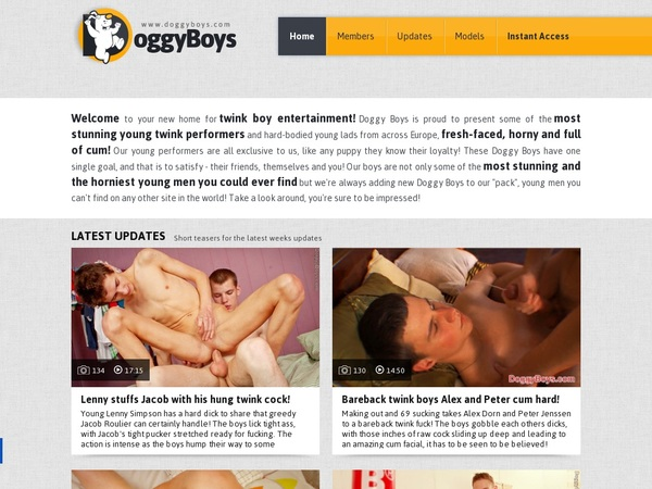 Sign Up For Doggy Boys