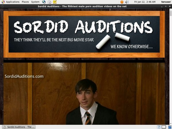 Sordid Auditions V2 Valid Password
