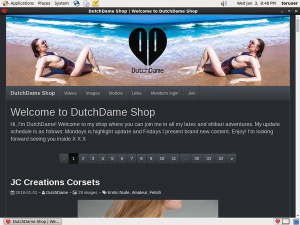 Username And Password For Dutchdamecom