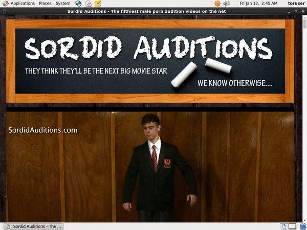 Sordid Auditions Join