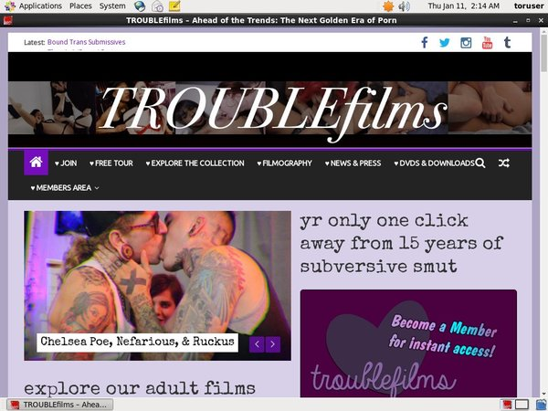 Trouble Films Join Page